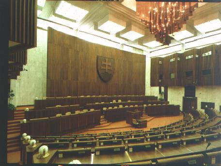Interior of the National Council of the Slovak Republic